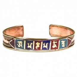Bracelet Om Mani Peme Hum en cuivre