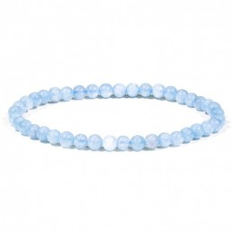 BRACELET AIGUE MARINE PERLE  4/5MM