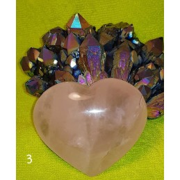 COEUR EN QUARTZ ROSE 209 GR