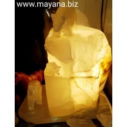 LAMPE ICEBERG OURS EN ONYX