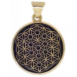 Amulette Fleur de vie et symbole de la Kabbale 2.5 cm