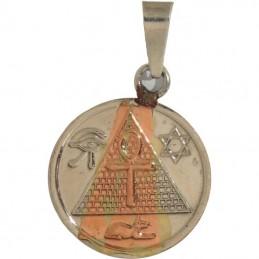 Amulette égyptienne puissante avec Thot Anubis 2,5 cm