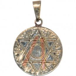 Amulette Pentagramme + tetragramme 2.5 cm
