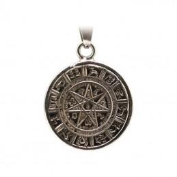 Amulette Etoile alchimique a 7 pointes + tetragramme 3.5 cm