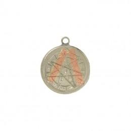 Amulette Etoile alchimique a 7 pointes + tetragramme 2.5 cm