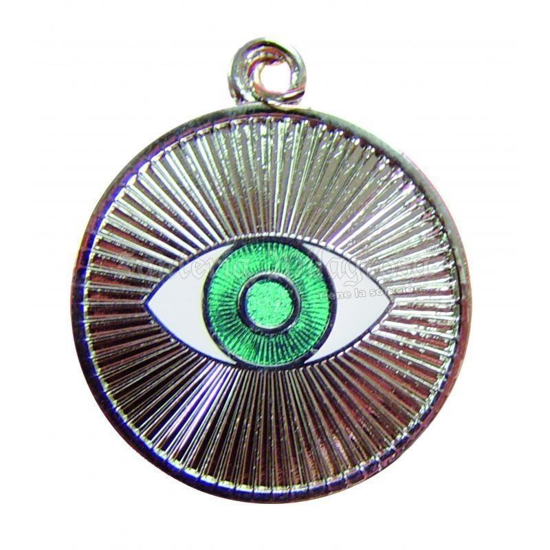 Amulette OEIL D ARGENT 3.5 CM