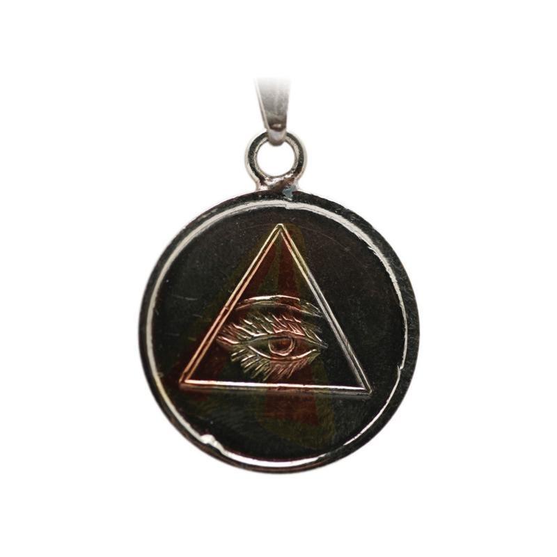 Amulette OEIL DU DIEU RA + TETRAGRAME 2.5 CM