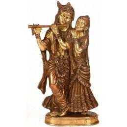 Radha et Krishna Divinité de l amour BRONZE 21 CM