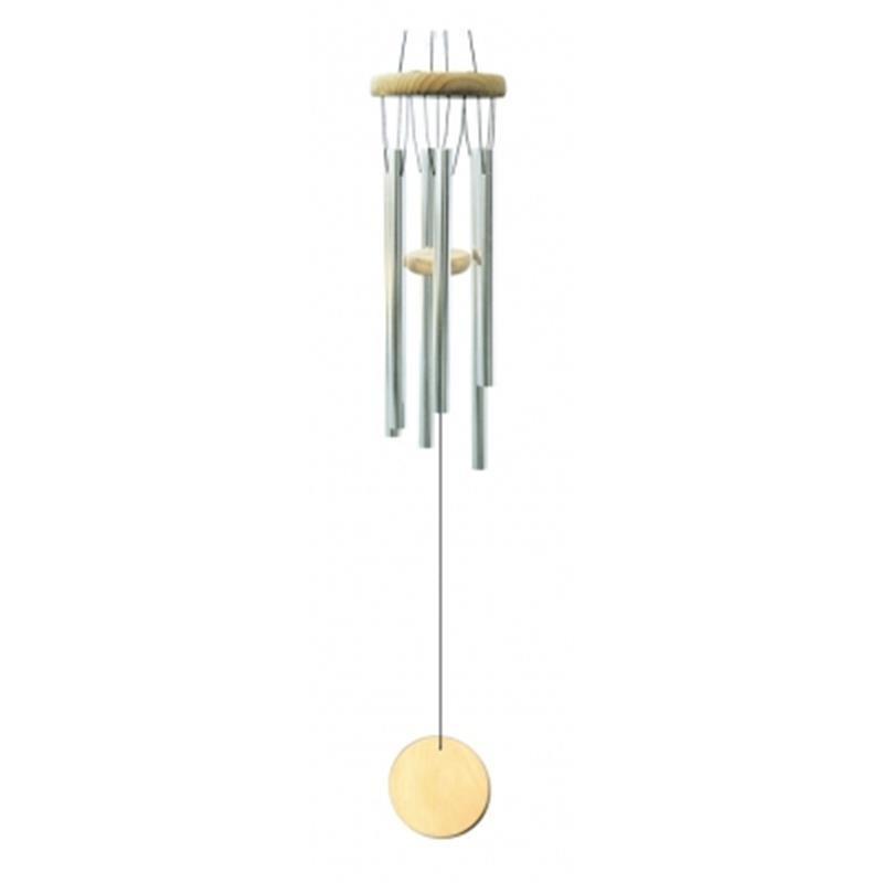 Carillon à vent 5 tubes métal et bois