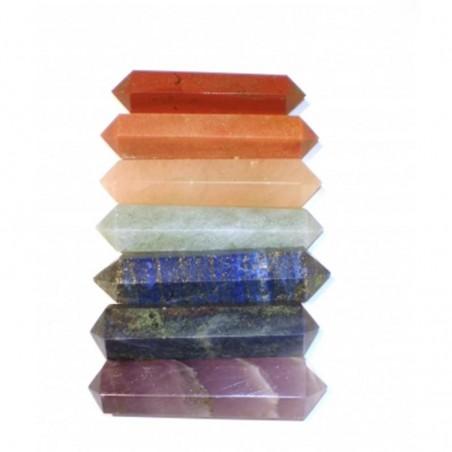 Pointes de massage couleur 7 Chakra SET de 7