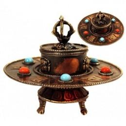 Brûle encens Tibétain en cuivre 10 X 8 CM