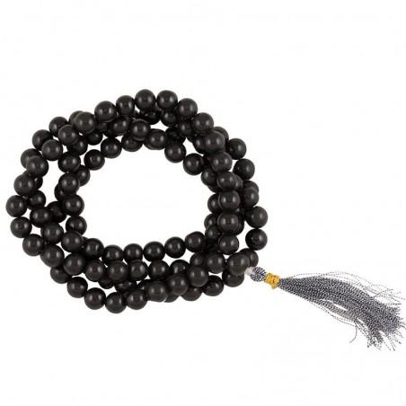 Mala en agate noire 108 perle
