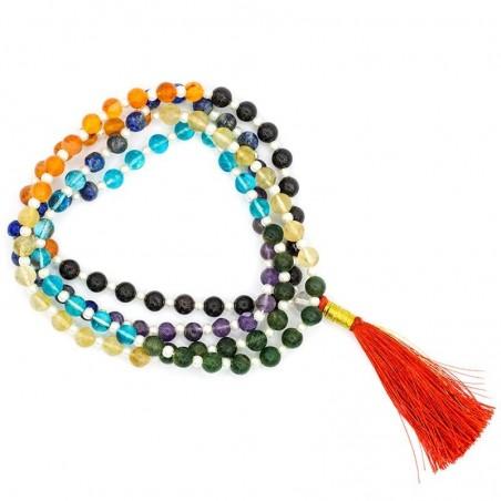 Mala 7 chakra qualité A 108 perles