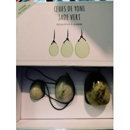 Oeuf Yoni en jade - Lot de 3 tailles