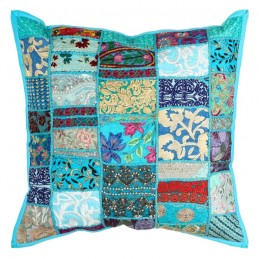 COUSSIN TURQUOISE ETHNIQUE...