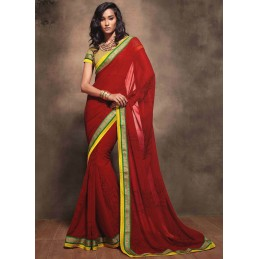 SAREE ROUGE GEORGETTE