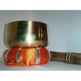 BOL CHANTANT TIBETAIN 7 METAUX 11,5 CM DE DIAMETRE 450 GR + COUSSIN + BATON